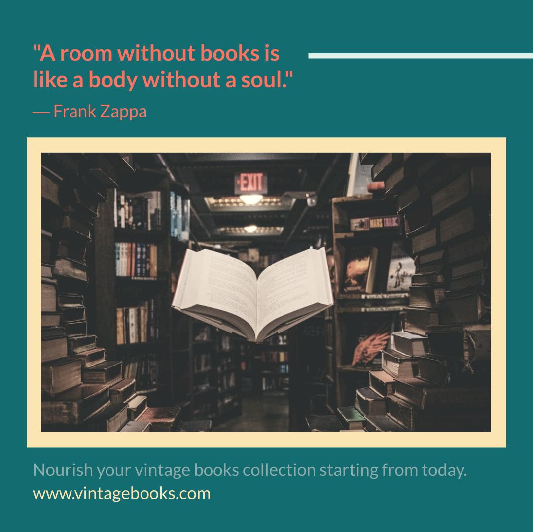 Instagram Post template: Vintage Book Collection Instagram Post (Created by InfoART's Instagram Post maker)