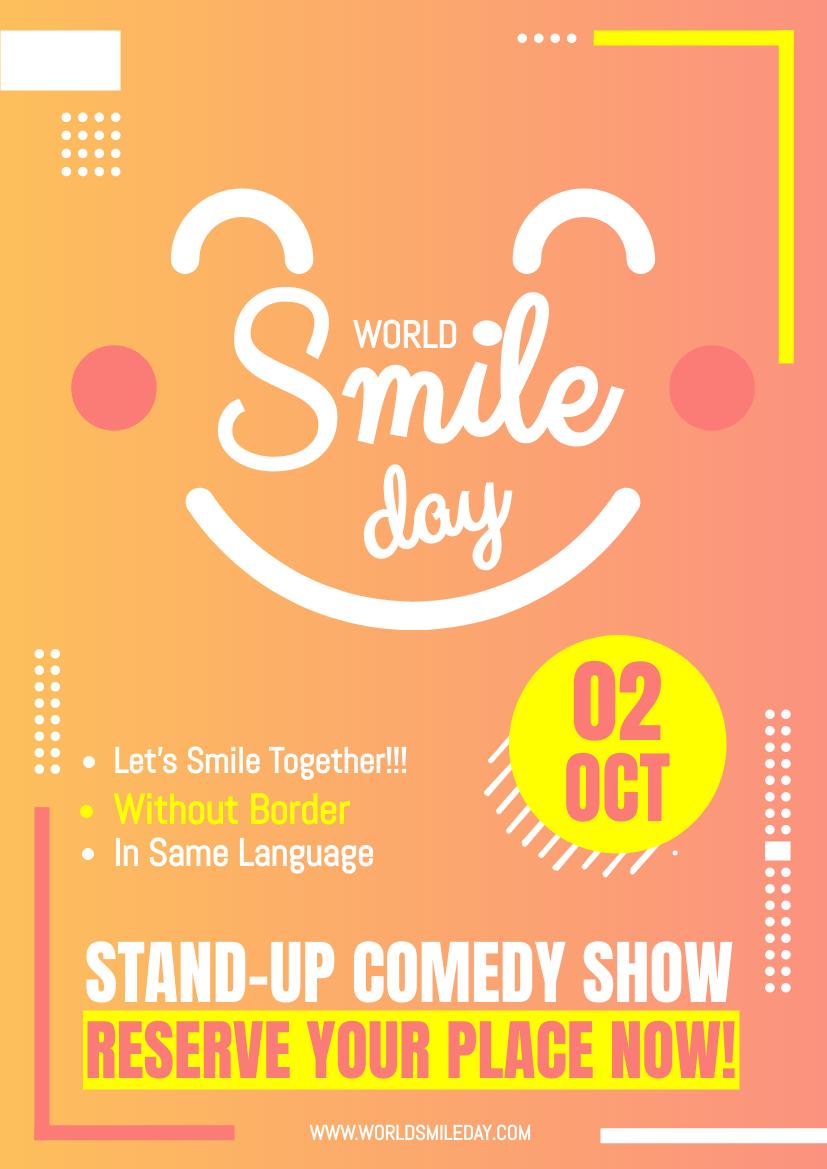 传单 template: Vibrant World Smile Day Flyer (Created by InfoART's 传单 maker)
