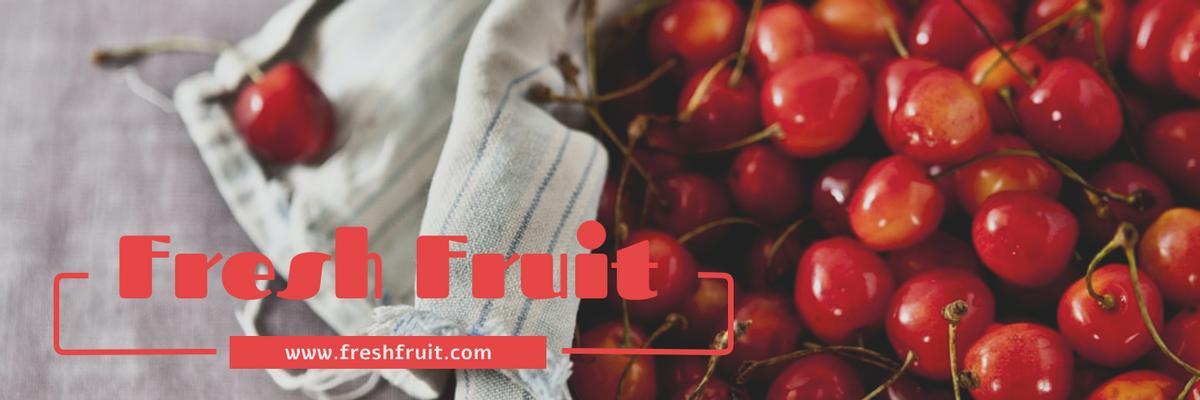 Twitter Header template: Fresh Fruit Twitter Header (Created by InfoART's Twitter Header maker)