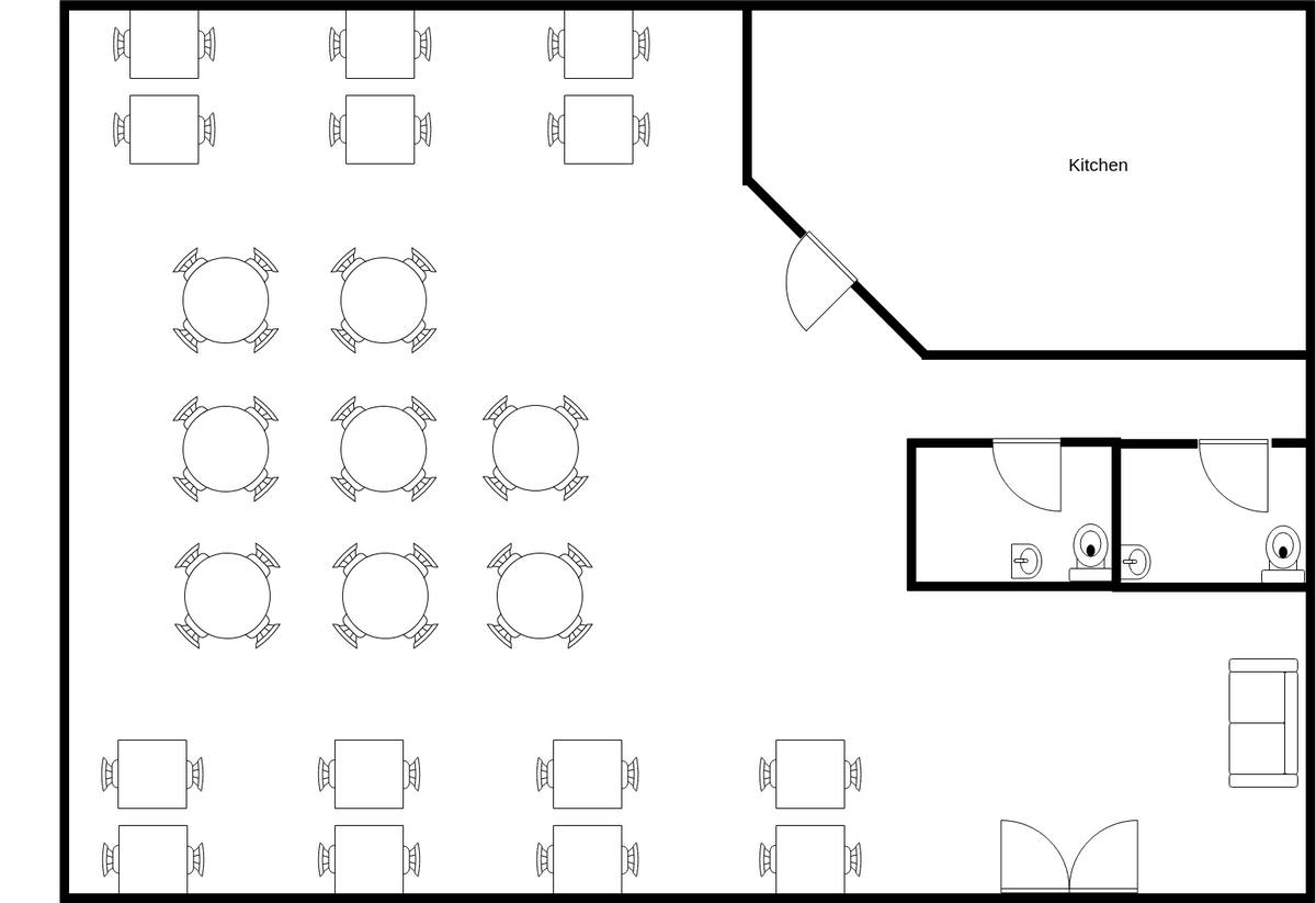 Food Venue Seating Plan (Seating Chart Example)