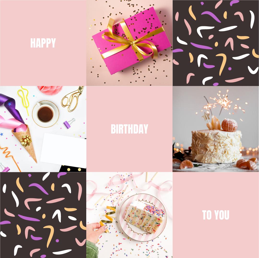 Photo Collage template: Birthday Celebration Cakes Photo Collage (Created by Collage's Photo Collage maker)