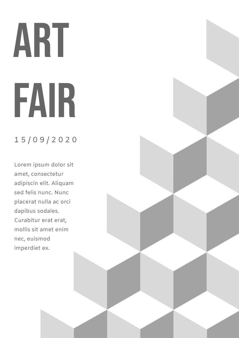 Flyer template: Art Fair Flyer 3 (Created by InfoART's Flyer maker)