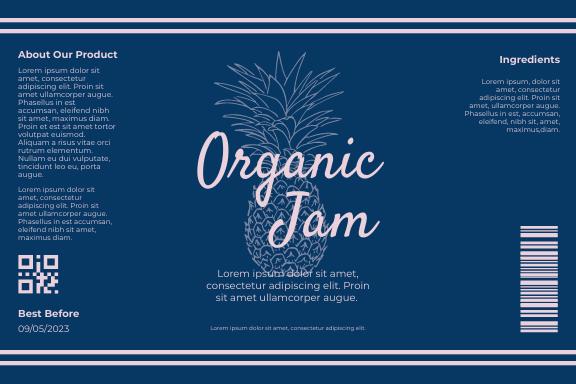 Label template: Organic Jam Label (Created by InfoART's Label maker)