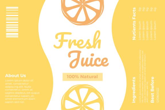 Label template: Fresh Juice Label (Created by InfoART's Label maker)