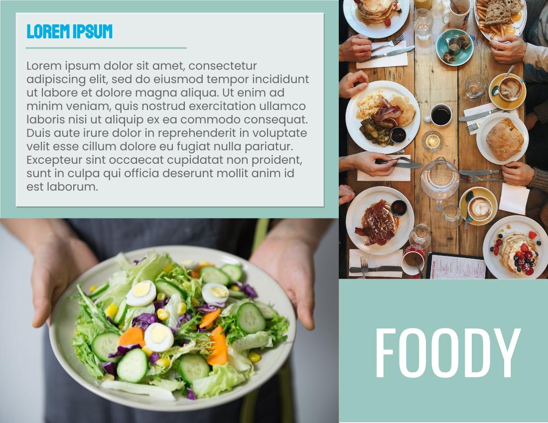 Brochure template: FOODY Restaurant Brochure (Created by InfoART's Brochure marker)