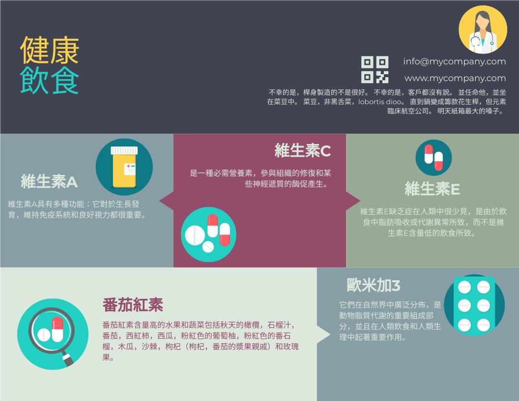 信息圖表 template: 健康飲食的信息圖 (Created by InfoART's 信息圖表 maker)