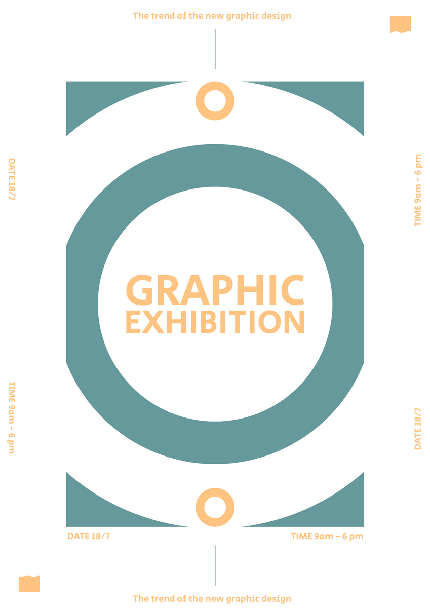 Poster template: Graphic Exhibition Poster (Created by InfoART's Poster maker)