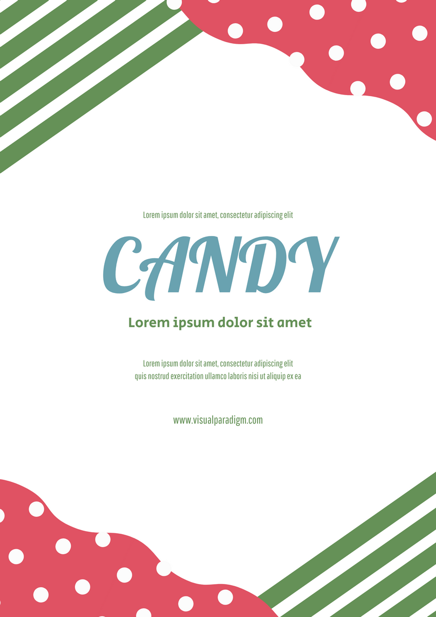 Poster template: Candy Poster (Created by InfoART's Poster marker)