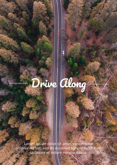 Postcard template: Drive Postcard (Created by InfoART's Postcard maker)