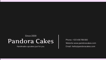 Business Card template: Pink Sweet Cake Shop Business Card (Created by InfoART's Business Card maker)