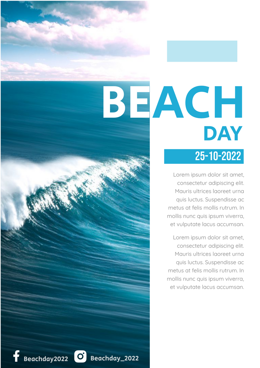 Poster template: Beach Day Poster (Created by InfoART's Poster maker)