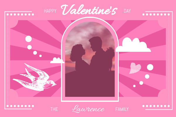 Greeting Card template: Valentine Celebration Greeting Card (Created by InfoART's Greeting Card maker)