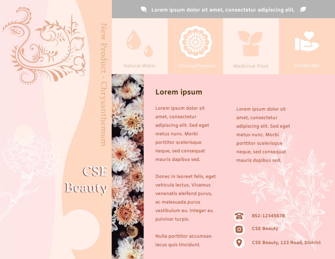 Brochure template: Beauty Product Brochure (Created by InfoART's Brochure marker)
