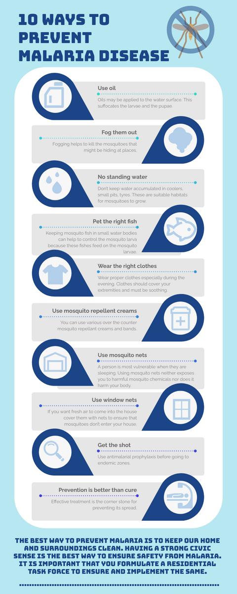 Infographic template: Malaria Disease Prevention Infographic (Created by InfoART's Infographic maker)