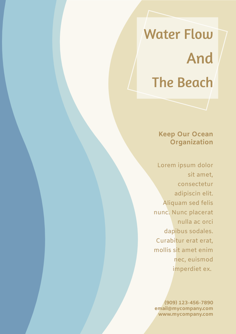 Flyer template: Ocean Protection Flyer (Created by InfoART's Flyer maker)