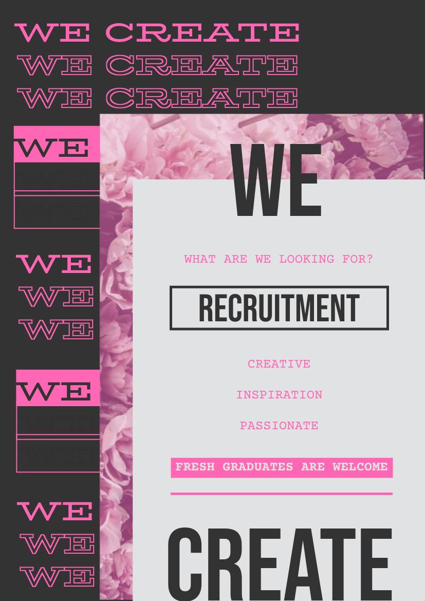 Flyer template: Creative Recruitment Flyer (Created by InfoART's Flyer maker)