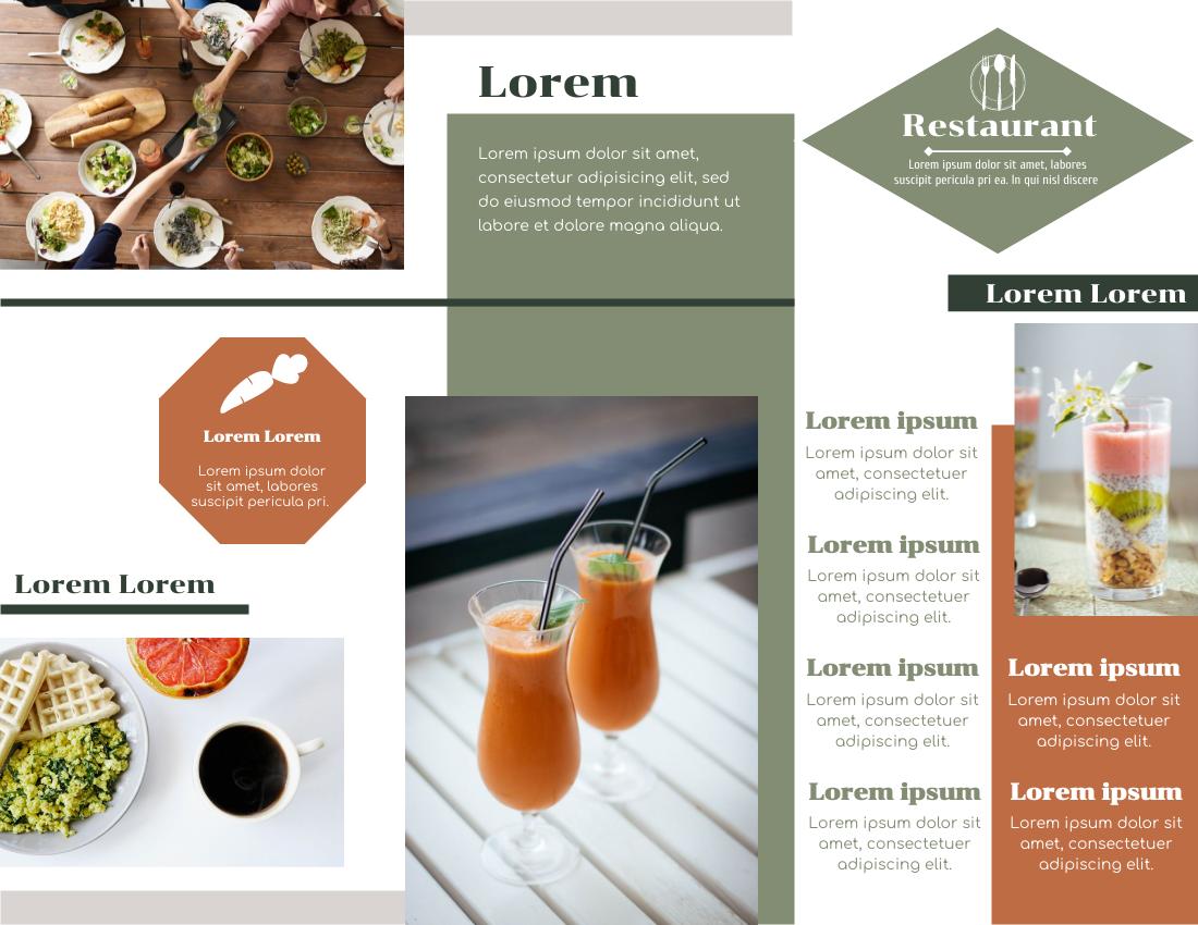 Brochure template: Restaurant Brochure (Created by InfoART's Brochure maker)