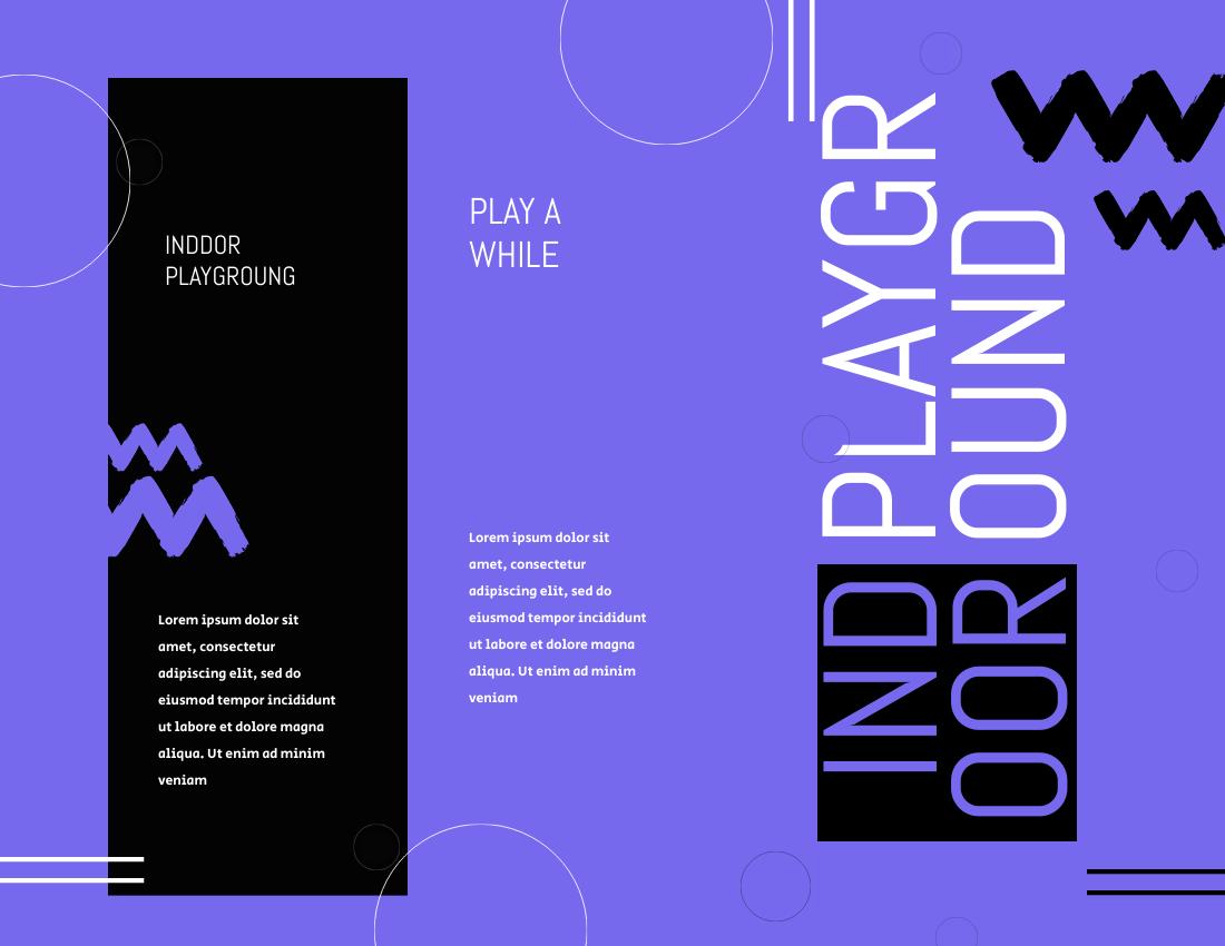 Brochure template: Indoor Playground Brochures (Created by InfoART's Brochure marker)