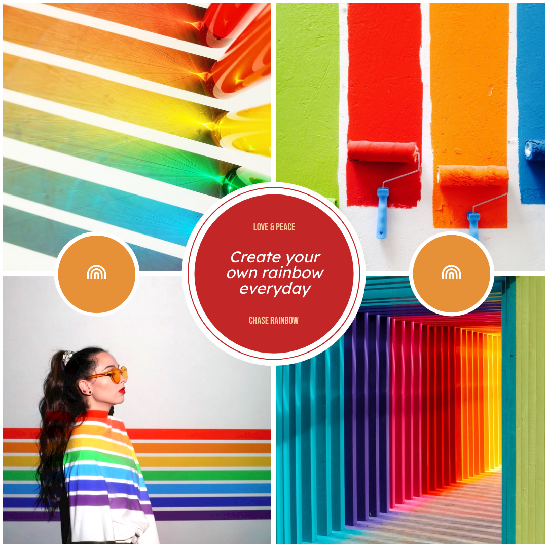 Photo Collage template: Chase Rainbow Photo Collage (Created by Collage's Photo Collage maker)