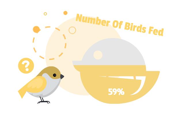 Progress template: Number Of Birds Fed (Created by InfoChart's Progress maker)