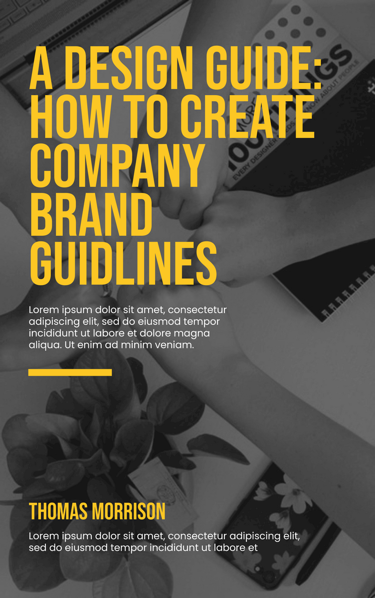 Book Cover template: Design Guide Book Cover (Created by InfoART's Book Cover maker)