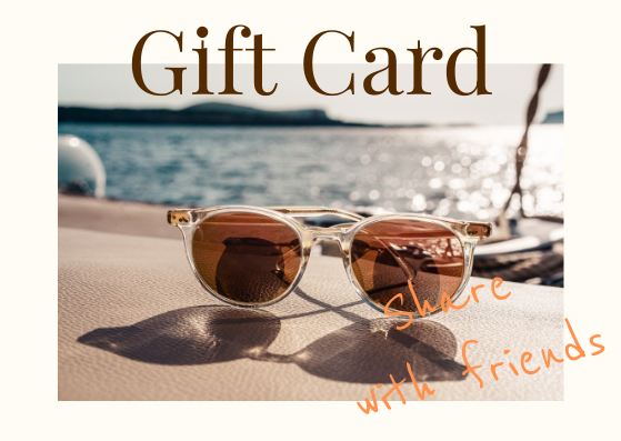 Gift Card template: Sunglasses Gift Card (Created by InfoART's Gift Card marker)