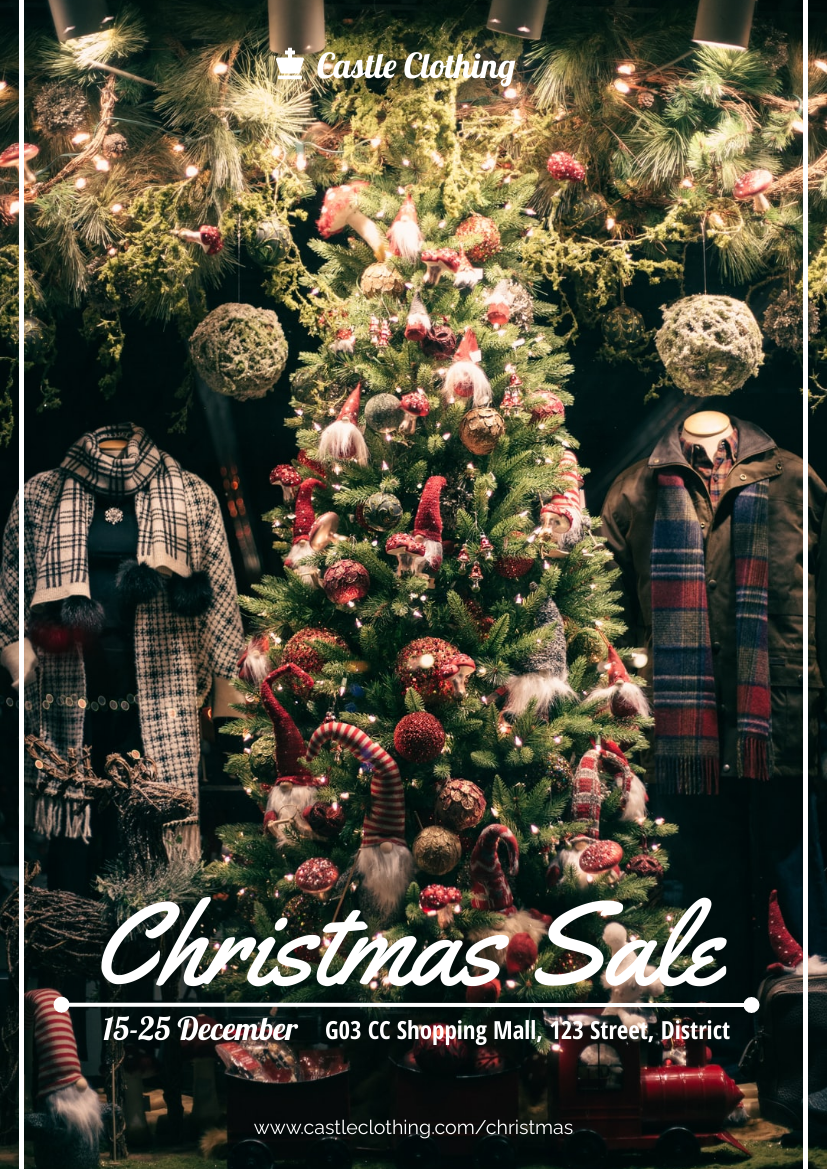 Flyer template: Clothing Christmas Sale Flyer (Created by InfoART's Flyer maker)