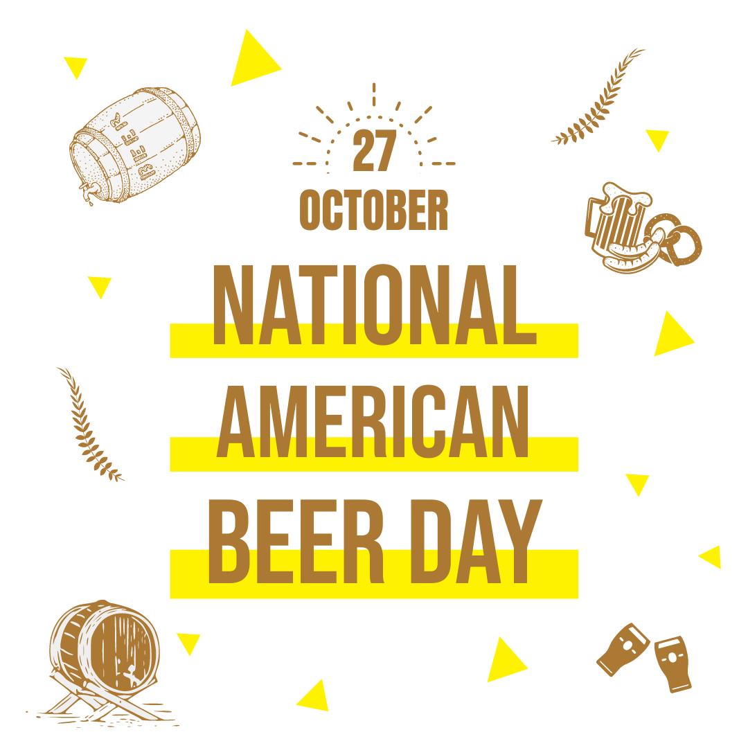 Instagram 帖子 template: National American Beer Day Instagram Post (Created by InfoART's Instagram 帖子 maker)