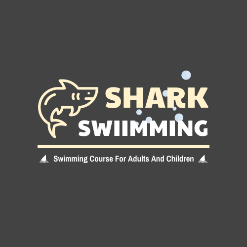 Logo template: Swimming Course Logo Designed With Cartoon Illustration Of Shark (Created by InfoART's Logo maker)