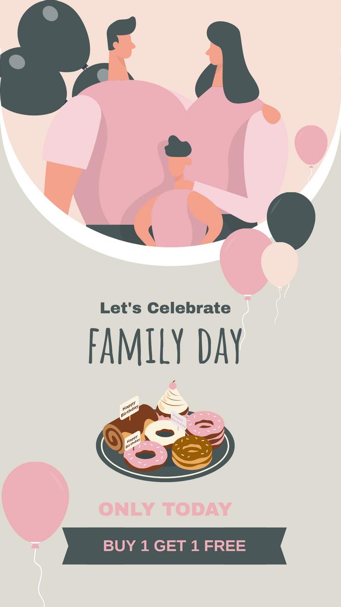Instagram Story template: Sweet Family Day Dessert Offer Instagram Story (Created by InfoART's Instagram Story maker)