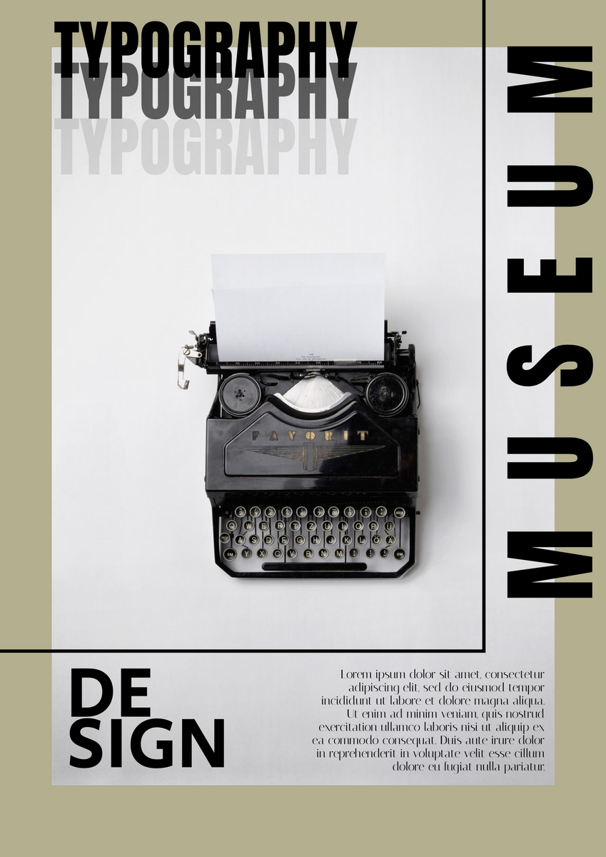 Poster template: Typography Design Museum Poster (Created by InfoART's Poster maker)