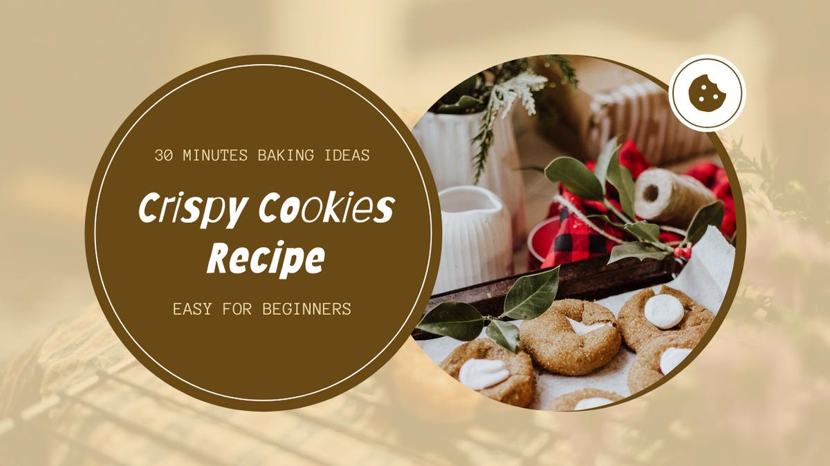 YouTube Thumbnail template: Cookies Photo Baking Cookies Tutorial YouTube Thumbnail (Created by InfoART's YouTube Thumbnail maker)