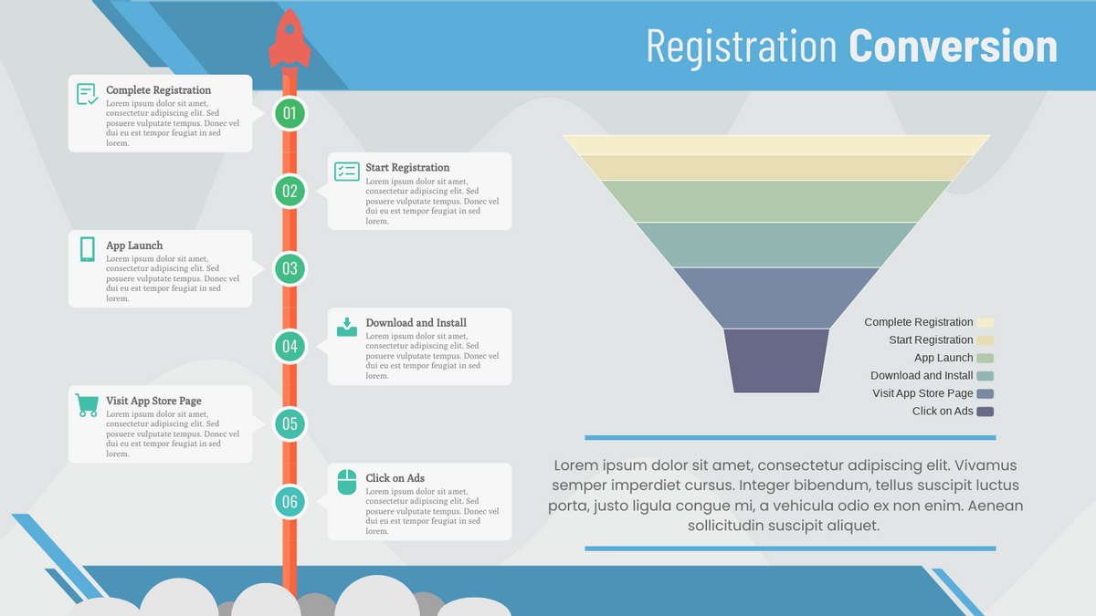 Funnel Chart template: Registration Conversion (Created by Chart's Funnel Chart maker)