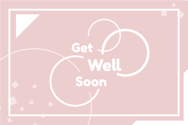 Greeting Card template: 2-Colour Get Well Soon Greeting Card (Created by InfoART's Greeting Card maker)