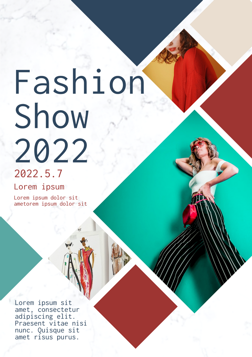 Poster template: Fashion Show Poster (Created by Collage's Poster maker)