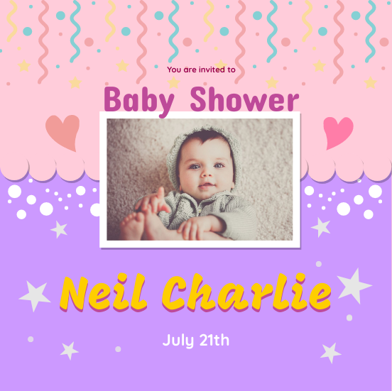 Invitation template: Baby Shower (Created by InfoART's Invitation marker)