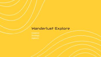 Business Card template: Wanderlust Explore Business Cards (Created by InfoART's Business Card maker)