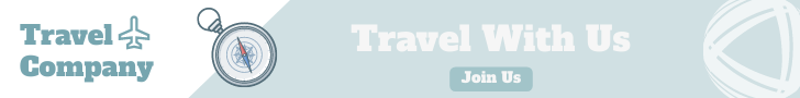 Banner Ad template: Blue Travel Banner Ad (Created by InfoART's Banner Ad maker)