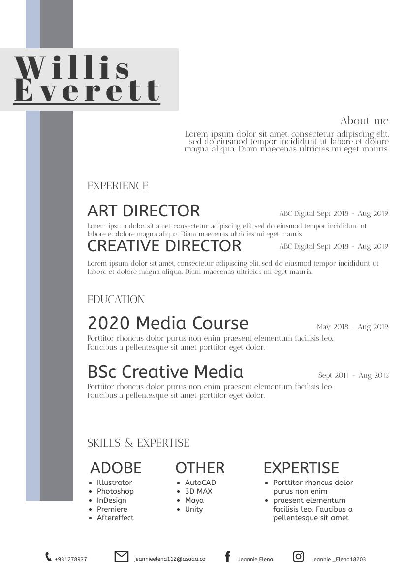 Resume template: Simple05 Resume (Created by InfoART's Resume maker)