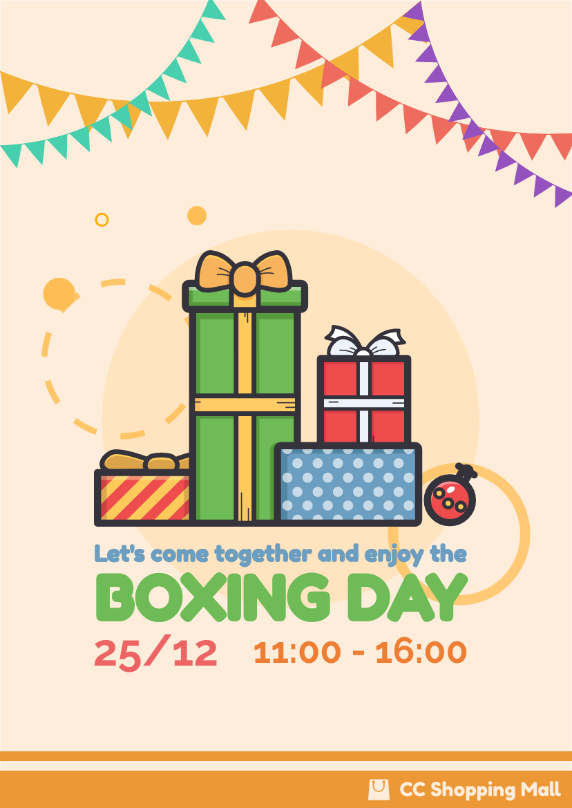 Flyer template: Boxing Day Event Flyer (Created by InfoART's Flyer maker)