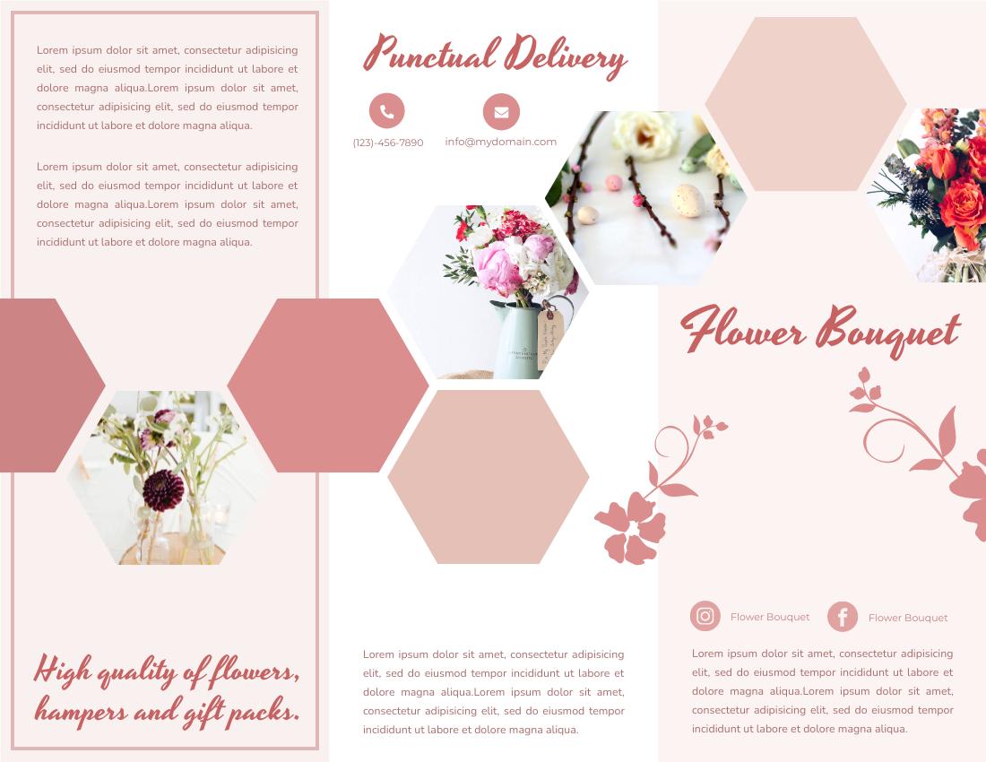 Brochure template: Flower Bouquet Brochure (Created by InfoART's Brochure marker)