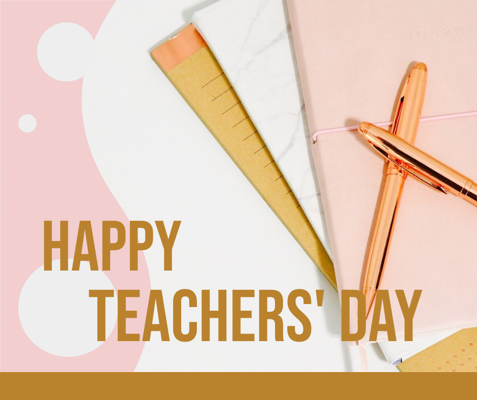 Facebook Post template: Simple Decorated Teachers' Day Celebration Facebook Post (Created by InfoART's Facebook Post maker)