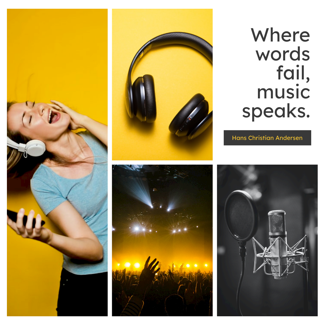 Instagram Post template: Music Speaks Instagram Post (Created by Collage's Instagram Post maker)