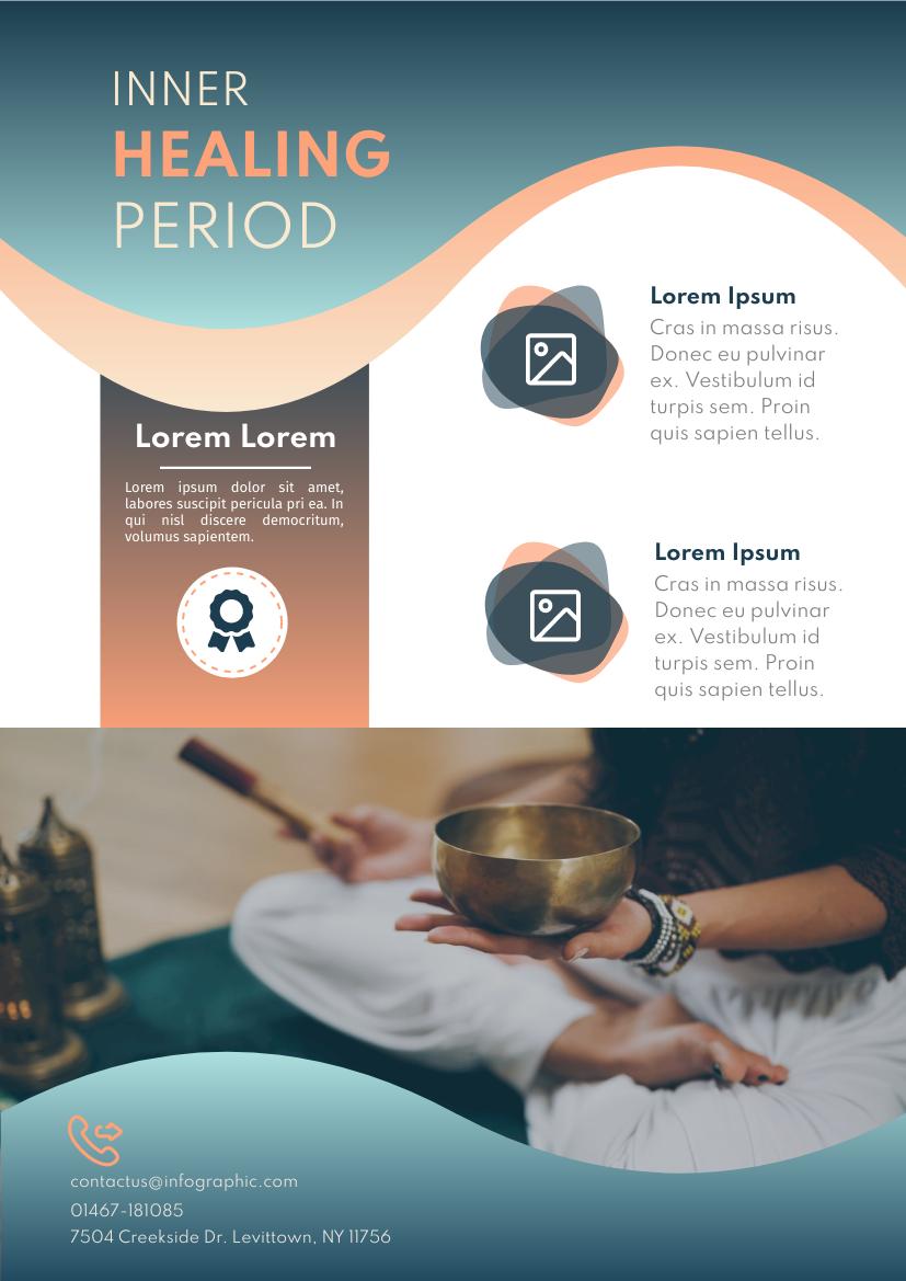 Flyer template: Singing Bowl Flyer (Created by InfoART's Flyer maker)
