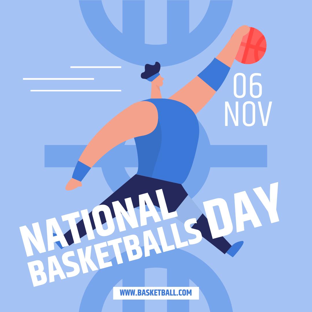 Instagram 帖子 template: National Basketball Day Instagram Post (Created by InfoART's Instagram 帖子 maker)