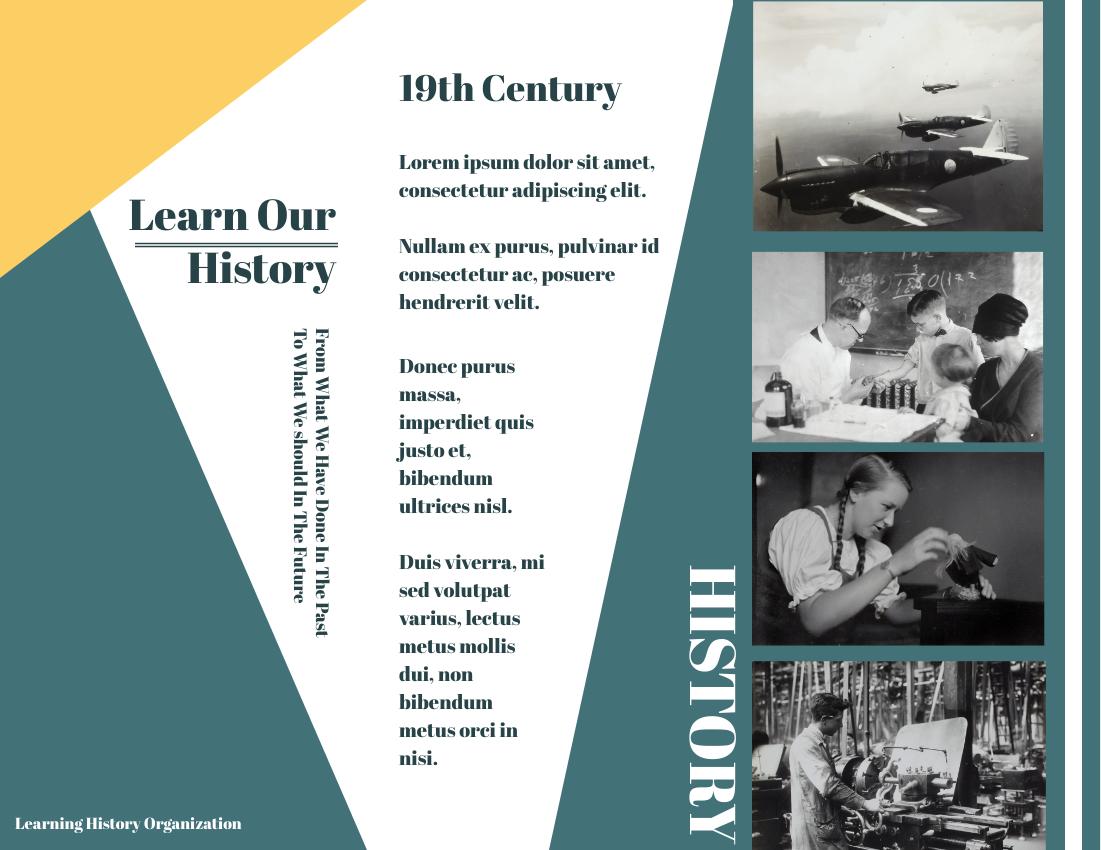 Brochure template: Learning History Brochure (Created by InfoART's Brochure marker)