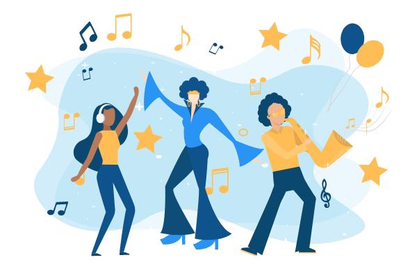 Festival Illustration template: Music Festival Illustration (Created by Scenarios's Festival Illustration maker)
