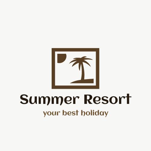 Logo template: Summer Resort Logo (Created by InfoART's Logo maker)
