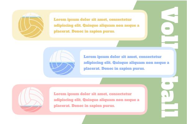 Sport template: Volleyball Comparison (Created by InfoChart's Sport maker)