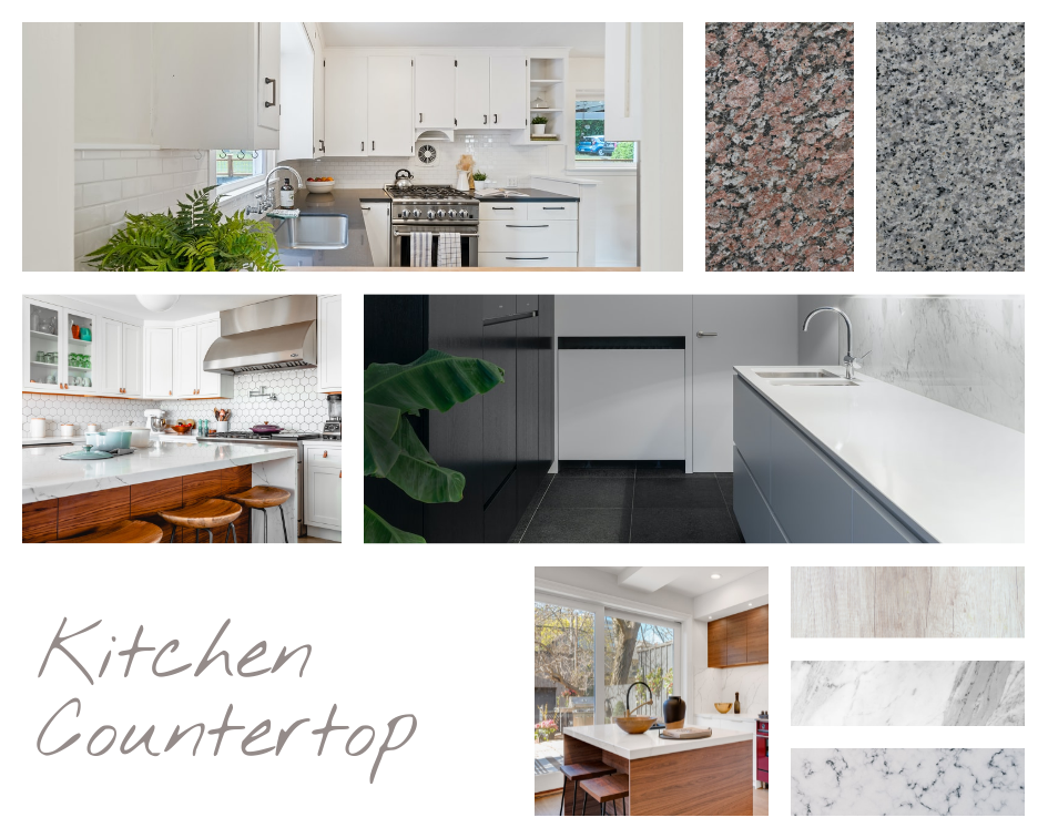 Mood Board template: Kitchen Counter Mood Board (Created by Collage's Mood Board maker)